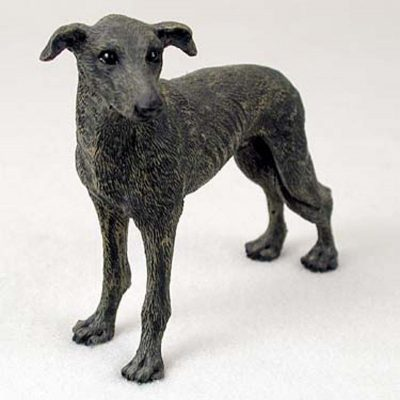 Greyhound-Hand-Painted-Collectible-Dog-Figurine-Statue-Brindle-180774500693