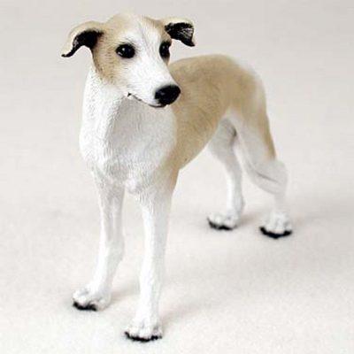 Greyhound-Hand-Painted-Collectible-Dog-Figurine-Tan-181336549660