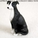 Greyhound-Mini-Resin-Dog-Figurine-Statue-Hand-Painted-Black-180644348105