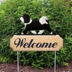 Havanese-Dog-Breed-Oak-Wood-Welcome-Outdoor-Yard-Sign-BlackWhite-400706798926