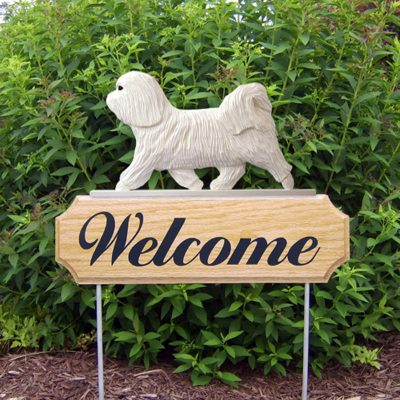 Havanese-Dog-Breed-Oak-Wood-Welcome-Outdoor-Yard-Sign-White-400706799681