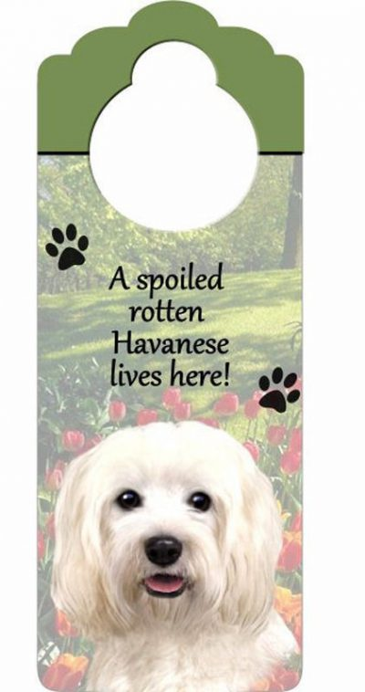 Havanese-Dog-Door-Knob-Handle-Hanger-Sign-Spoiled-Rotten-1025-x-4-400511443745
