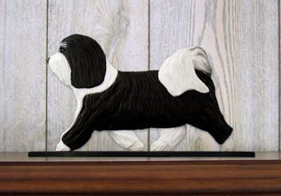 Havanese-Dog-Figurine-Sign-Plaque-Display-Wall-Decoration-BlackWhite-400722000511
