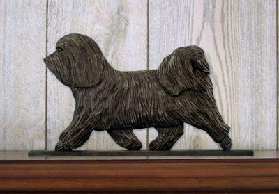 Havanese-Dog-Figurine-Sign-Plaque-Display-Wall-Decoration-Dark-Grey-400722000698