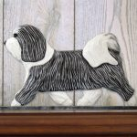Havanese-Dog-Figurine-Sign-Plaque-Display-Wall-Decoration-GreyWhite-181430790653