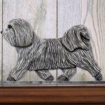 Havanese-Dog-Figurine-Sign-Plaque-Display-Wall-Decoration-Light-Grey-181430791312