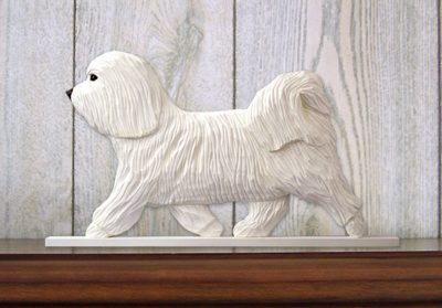 Havanese-Dog-Figurine-Sign-Plaque-Display-Wall-Decoration-White-181430791864