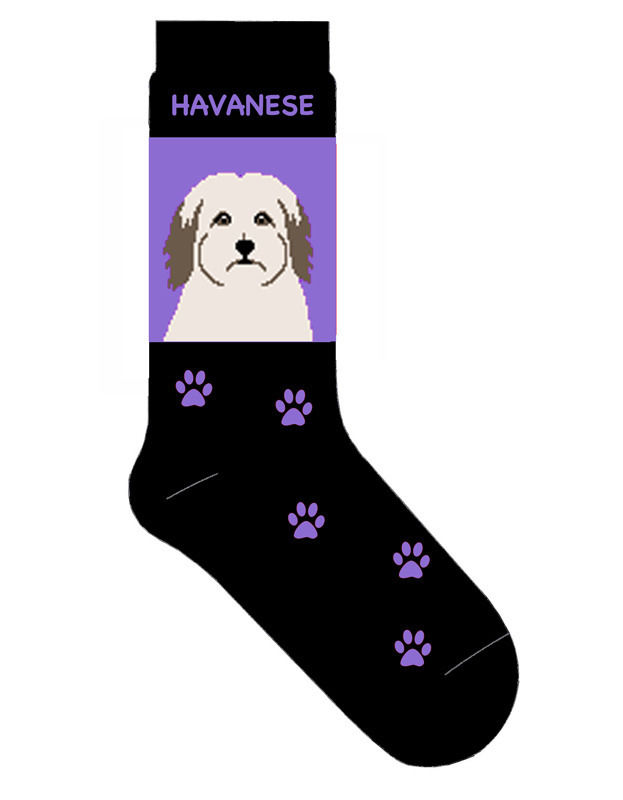 Havanese Socks Lightweight Cotton Crew Stretch Egyptian