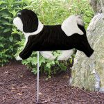 Havanese-Outdoor-Garden-Dog-Sign-Hand-Painted-Figure-BlackWhite-181369667361