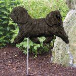 Havanese-Outdoor-Garden-Dog-Sign-Hand-Painted-Figure-Dark-Grey-400688308305