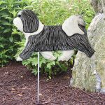 Havanese-Outdoor-Garden-Dog-Sign-Hand-Painted-Figure-GreyWhite-400688308482