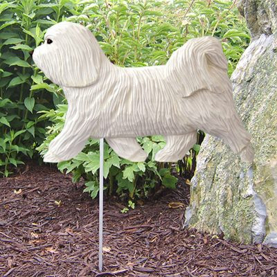 Havanese-Outdoor-Garden-Dog-Sign-Hand-Painted-Figure-White-181369668506