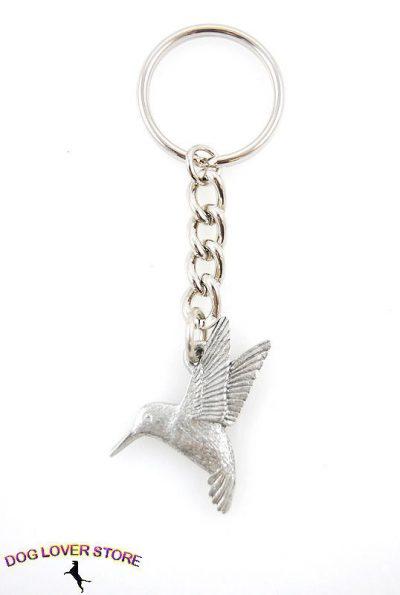 Hummingbird-Fine-Pewter-Silver-Keychain-Key-Chain-Ring-400624148815