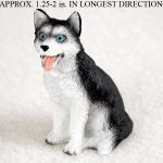 Husky-Mini-Resin-Dog-Figurine-Statue-Hand-Painted-BlackWhite-Blue-Eyed-400269044593