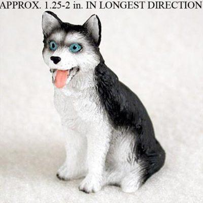 Husky-Mini-Resin-Dog-Figurine-Statue-Hand-Painted-BlackWhite-Blue-Eyed-400269044593