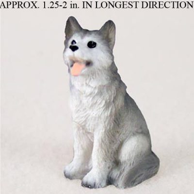 Husky-Mini-Resin-Hand-Painted-Dog-Figurine-Statue-Hand-Painted-GrayWhite-180675951529