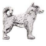 Husky-Silver-Dog-Charm-Refrigerator-Magnet-Figurine-180839789659