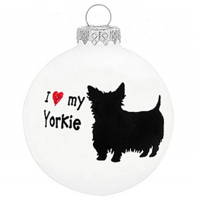 I-Love-My-Yorkie-Dog-Ornament-Christmas-Holiday-Glass-Personalized-Custom-180733794078