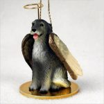 Irish-Wolfhound-Dog-Figurine-Ornament-Angel-Statue-Hand-Painted-400322309333