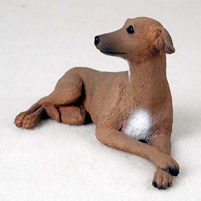 Set//4 Greyhounds Tan /& White Miniature Ceramic Hand Painted Dog Figurine