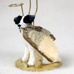 Jack-Russell-Dog-Figurine-Angel-BlackWhite-Rough-180637634891