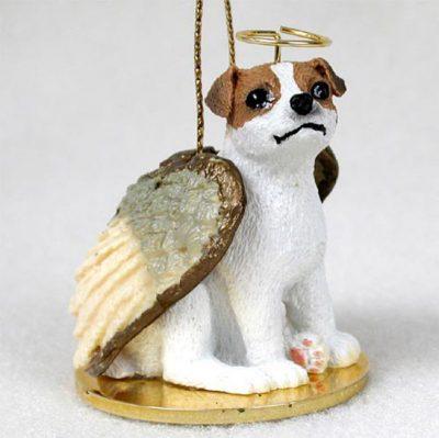 Jack-Russell-Dog-Figurine-Angel-Statue-BrownWhite-Smooth-180741556405