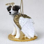 Jack-Russell-Dog-Figurine-Angel-Statue-Hand-Painted-BrownWhite-Roug-180675021534