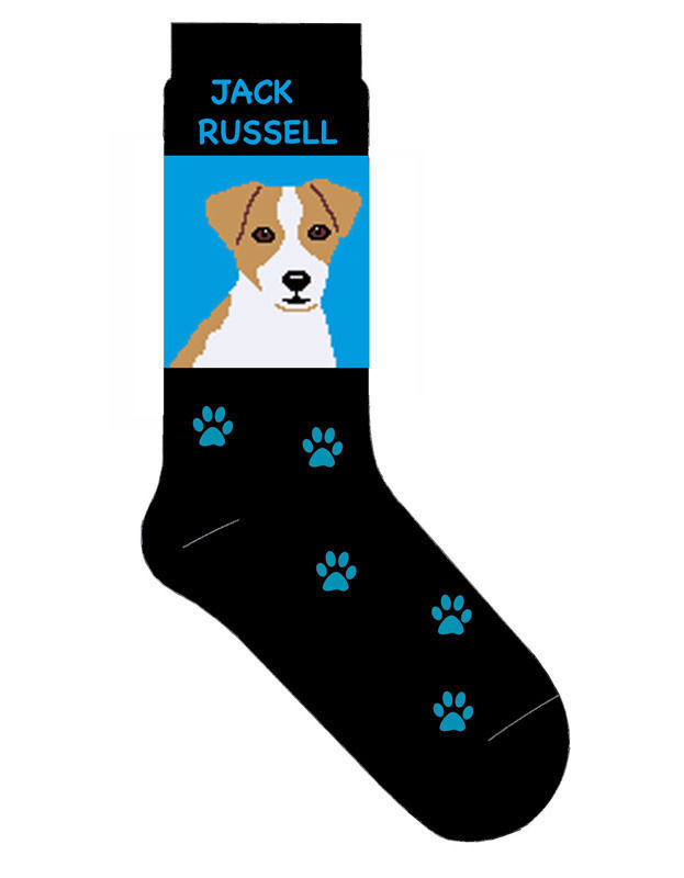 Jack Russell Terrier Socks Lightweight Cotton Crew Stretch Egyptian