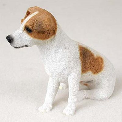Jack-Russell-Hand-Painted-Collectible-Dog-Figurine-BrwnWht-Smooth-400590457466