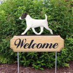 Jack-Russell-Terrier-Dog-Breed-Oak-Wood-Welcome-Outdoor-Yard-Sign-BlackWhite-400706799904