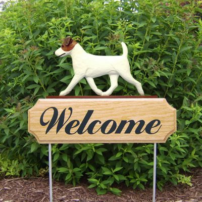 Jack-Russell-Terrier-Dog-Breed-Oak-Wood-Welcome-Outdoor-Yard-Sign-BrownWhite-400706800054