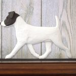 Jack-Russell-Terrier-Dog-Figurine-Sign-Plaque-Display-Wall-Decoration-BlackWhit-181430794511