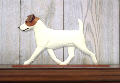 Jack-Russell-Terrier-Dog-Figurine-Sign-Plaque-Display-Wall-Decoration-BrownWhit-400722001687