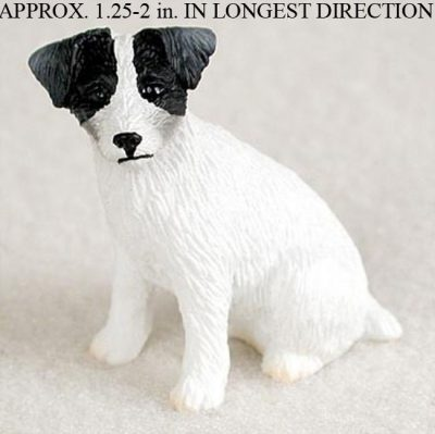 Jack-Russell-Terrier-Mini-Resin-Hand-Painted-Dog-Figurine-BlackWhite-Rough-Hair-180738716736