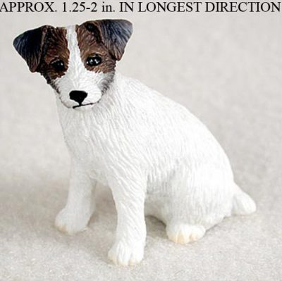 Jack-Russell-Terrier-Mini-Resin-Hand-Painted-Dog-Figurine-Statue-BrwnWht-Rough-400249634946
