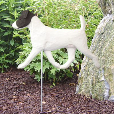 Jack-Russell-Terrier-Outdoor-Garden-Dog-Sign-Hand-Painted-Figure-BlackWhite-181369668859