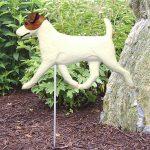 Jack-Russell-Terrier-Outdoor-Garden-Dog-Sign-Hand-Painted-Figure-BrownWhite-181369669102
