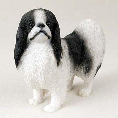 Japanese-Chin-Hand-Painted-Dog-Figurine-Statue-180638149571