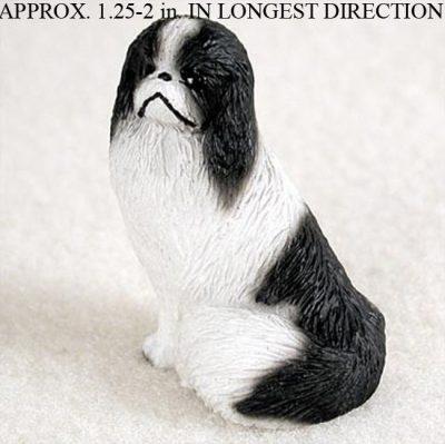 Japanese-Chin-Mini-Resin-Dog-Figurine-Statue-Hand-Painted-BlackWhite-180644348178