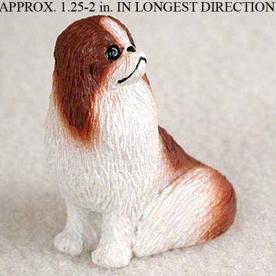 Japanese-Chin-Mini-Resin-Hand-Painted-Dog-Figurine-RedWhite-180738575663