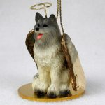 Keeshond-Dog-Figurine-Angel-Statue-Ornament-181136186668