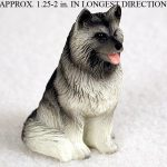 Keeshond-Mini-Resin-Dog-Figurine-Statue-Hand-Painted-181350374565