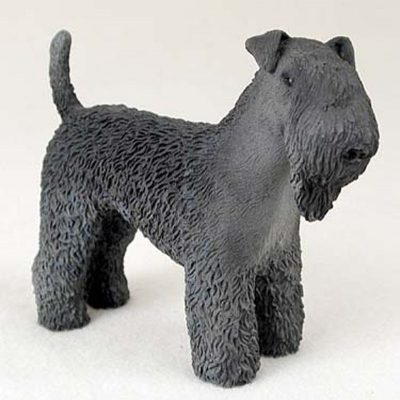 Kerry-Blue-Terrier-Hand-Painted-Dog-Figurine-Statue-180638149635