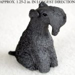 Kerry-Blue-Terrier-Mini-Resin-Hand-Painted-Dog-Figurine-Statue-Hand-Painted-180675951558