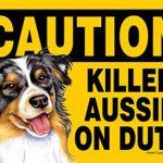 Killer-Australian-Shepherd-On-Duty-Dog-Sign-Magnet-Velcro-5×7-400611474918