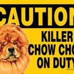 Killer-Chow-Chow-On-Duty-Dog-Sign-Magnet-Velcro-5×7-400625458714