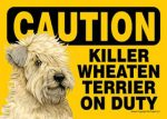 Killer-Soft-Coated-Wheaton-On-Duty-Dog-Sign-Magnet-Velcro-5x7-181140185902