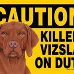Killer-Vizsla-On-Duty-Dog-Sign-Magnet-Velcro-5×7-181281430305