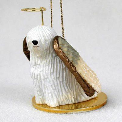 Komondor-Dog-Figurine-Angel-Statue-Hand-Painted-400201488500
