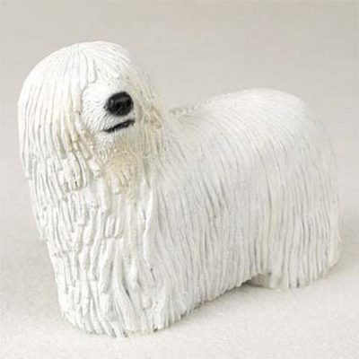 Komondor-Hand-Painted-Collectible-Dog-Figurine-400304523413